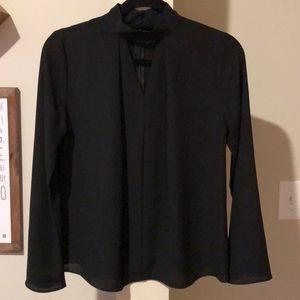 Black sheer choker style top, size small